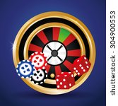 jackpot digital design  vector... | Shutterstock .eps vector #304900553