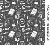 hand drawn seamless pattern.... | Shutterstock .eps vector #304907933
