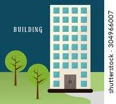 building digital design  vector ... | Shutterstock .eps vector #304966007