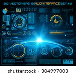 abstract future  concept vector ... | Shutterstock .eps vector #304997003