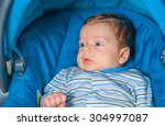 portrait of a 2 months old baby ... | Shutterstock . vector #304997087
