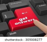 a keyboard with a key reading... | Shutterstock . vector #305008277