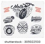 motorcycle themed badge vectors.... | Shutterstock .eps vector #305022533