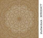 ornamental vector mandala on... | Shutterstock .eps vector #305033477