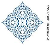 rosette ornament. isolated on... | Shutterstock . vector #305047223