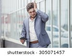 businessman c wallet  failure ... | Shutterstock . vector #305071457