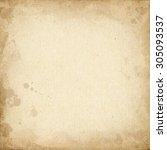realistic brown cardboard... | Shutterstock . vector #305093537
