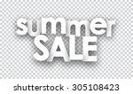 white summer sale sign. vector... | Shutterstock .eps vector #305108423