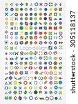 company logos mega collection ...   Shutterstock .eps vector #305118137