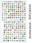 company logos mega collection ...   Shutterstock .eps vector #305118143