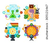 school subjects. chemistry ... | Shutterstock .eps vector #305121467