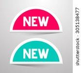 new vector paper labels set | Shutterstock .eps vector #305138477