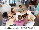 manager leading creative...   Shutterstock . vector #305179637