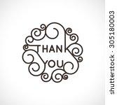 thank you    vector geometric... | Shutterstock .eps vector #305180003