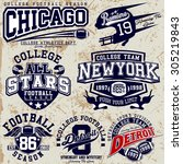 college graphics for t shirt | Shutterstock .eps vector #305219843