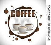 coffee time design  vector... | Shutterstock .eps vector #305226923