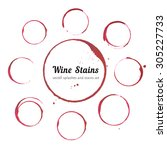 red stains for wine card  stamp ... | Shutterstock .eps vector #305227733