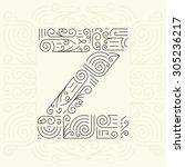 vector mono line style... | Shutterstock .eps vector #305236217