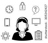 customer service design  vector ... | Shutterstock .eps vector #305242427