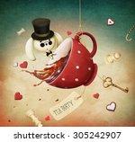 illustration of fantasy with... | Shutterstock . vector #305242907