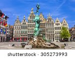 Traditional flemish architecture in Belgium - Antwerpen city