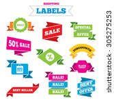 sale shopping labels. sale... | Shutterstock .eps vector #305275253