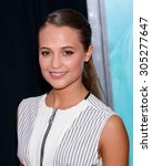 """Small photo of August 10, 2015, New York, New York, USA - Alicia Vikander attends the New York City premiere of """"The Man From U.N.C.L.E."""" at the Ziegfeld Theater"""