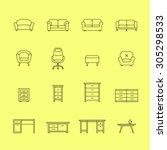 furniture icons. icons for... | Shutterstock .eps vector #305298533