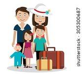 summer digital design  vector... | Shutterstock .eps vector #305300687
