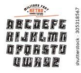 sanserif geometric font in...   Shutterstock .eps vector #305318567