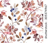 watercolor seamless pattern... | Shutterstock . vector #305374967