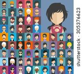 collection of avatars5    65... | Shutterstock .eps vector #305376623