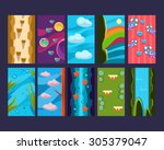 game background vector set ...