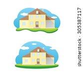 vector house illustration. home ... | Shutterstock .eps vector #305387117