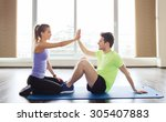 fitness  sport  training ... | Shutterstock . vector #305407883