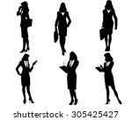 vector illustration of a six... | Shutterstock .eps vector #305425427