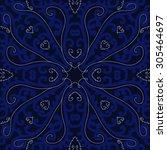 circular   pattern of delicate... | Shutterstock . vector #305464697