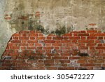 the old cracked wall of the... | Shutterstock . vector #305472227