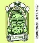 skull art | Shutterstock .eps vector #305476667