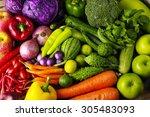 Organic Food Background ...