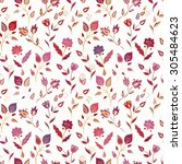 seamless floral pattern | Shutterstock .eps vector #305484623