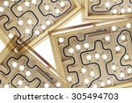 close up of maze game  | Shutterstock . vector #305494703