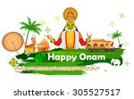 illustration of onam background ... | Shutterstock .eps vector #305527517