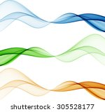 abstract color waves | Shutterstock .eps vector #305528177