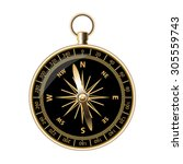 retro compass for travels and... | Shutterstock .eps vector #305559743