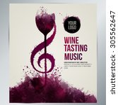 idea concept wine and music.... | Shutterstock .eps vector #305562647