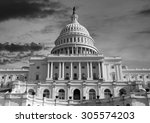 us capitol building sunset in... | Shutterstock . vector #305574203