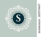 the letter s. flourishes...   Shutterstock .eps vector #305574647