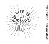 card with hand drawn typography ...   Shutterstock . vector #305584163