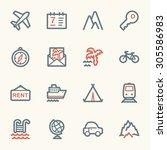 travel web icons set | Shutterstock .eps vector #305586983